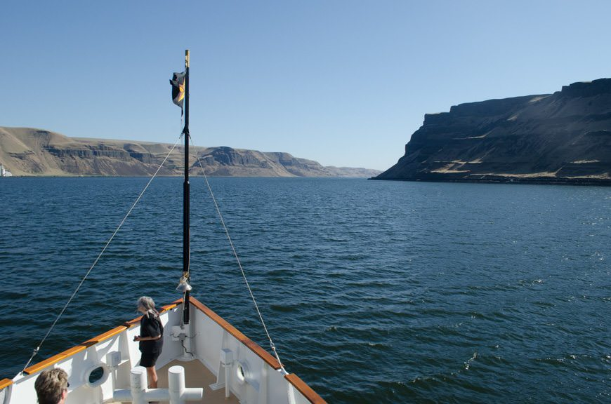 Back onboard the S.S. Legacy, we leave Walla Walla in our Wake..Photo © 2015 Aaron Saunders