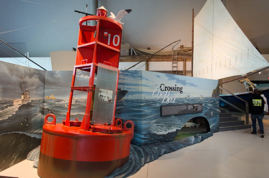 There's plenty of interactive displays throughout the museum, including full-sized boats and nautical devices - like this gigantic buoy. Photo © 2015 Aaron Saunders