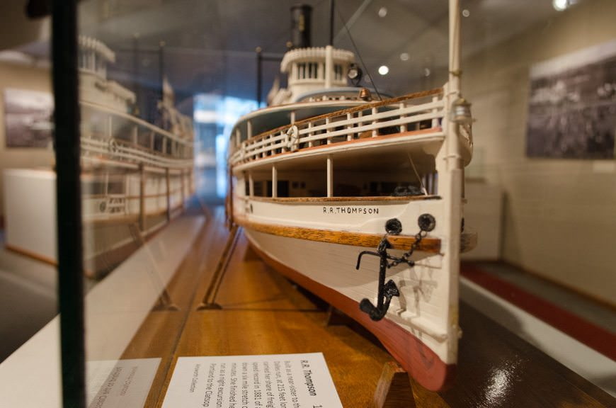 Do you like models of classic ships? Sure you do - and there's plenty here to admire! Photo © 2015 Aaron Saunders