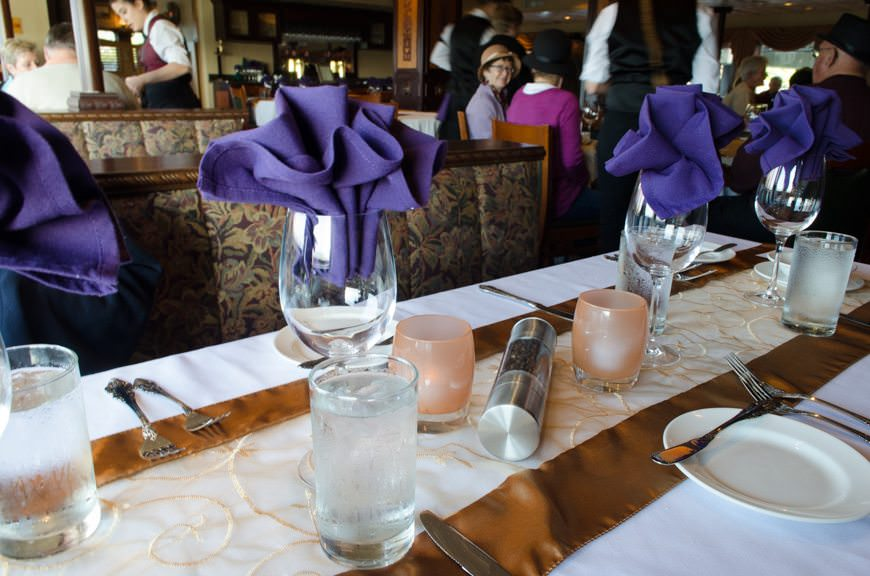 The Captain's Dinner on the S.S. Legacy...Photo © 2015 Aaron Saunders