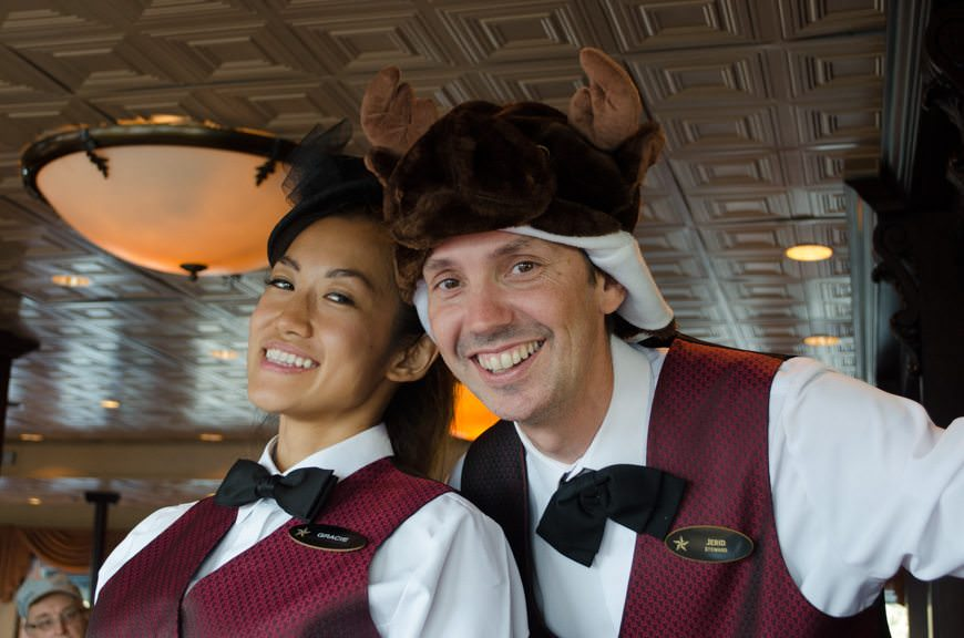 ...means guests and crew alike get to wear a hat of their choosing! Photo © 2015 Aaron Saunders