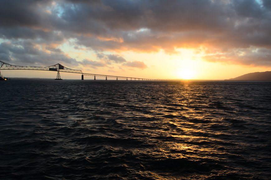 ...as the sun dips below the horizon. Photo © 2015 Aaron Saunders