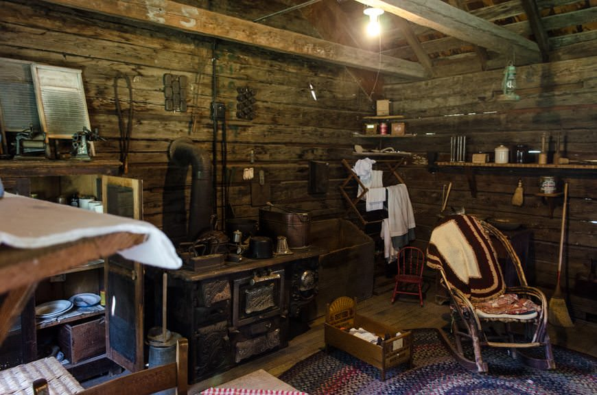 Turn-of-the-century living was spartan...but oddly cozy looking. Photo © 2015 Aaron Saunders