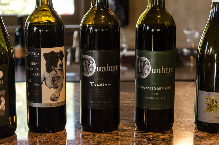 We tasted several excellent kinds of wine that Dunham produces...Photo © 2015 Aaron Saunders