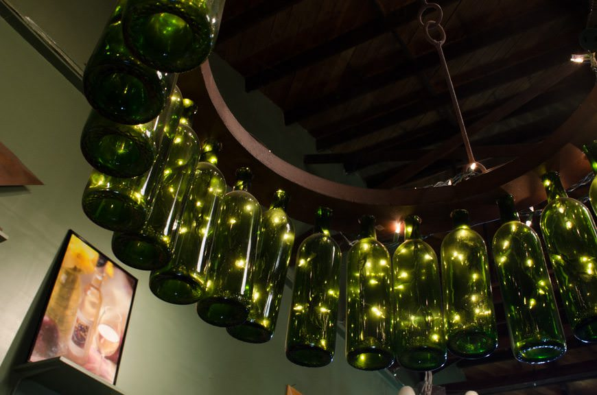 The wines were great - but I have to give bonus points for the cool chandelier! Photo © 2015 Aaron Saunders