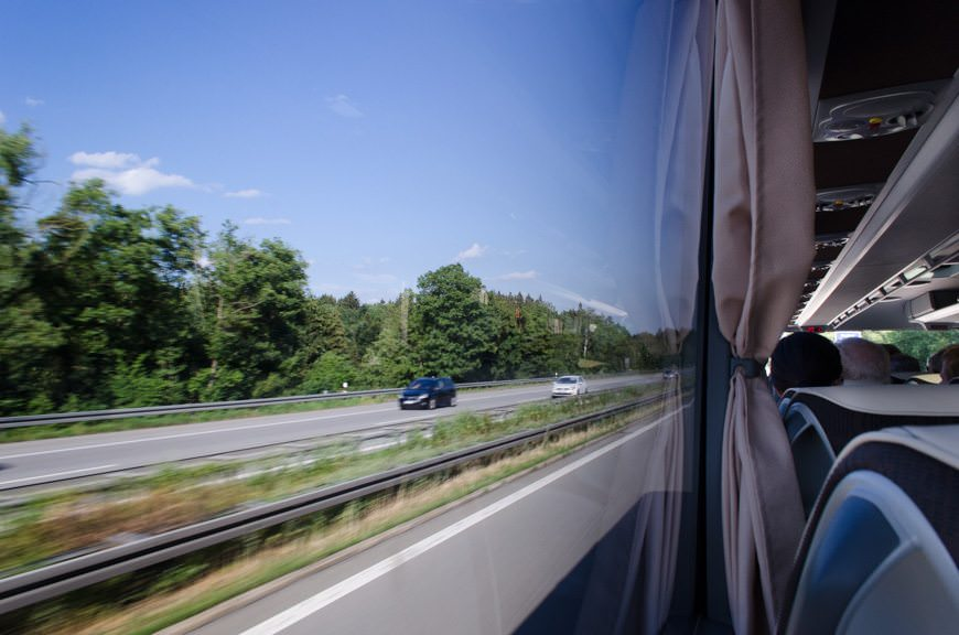 Zipping along the German Autobahn...Photo © 2015 Aaron Saunders