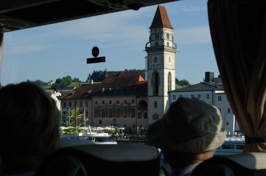 ...we find ourselves in Passau. Well, passing Passau. Photo © 2015 Aaron Saunders