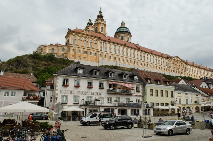 I've said it before, and I'll say it again: The imposing Melk Abbey lords over the town of Melk. Photo © 2015 Aaron Saunders