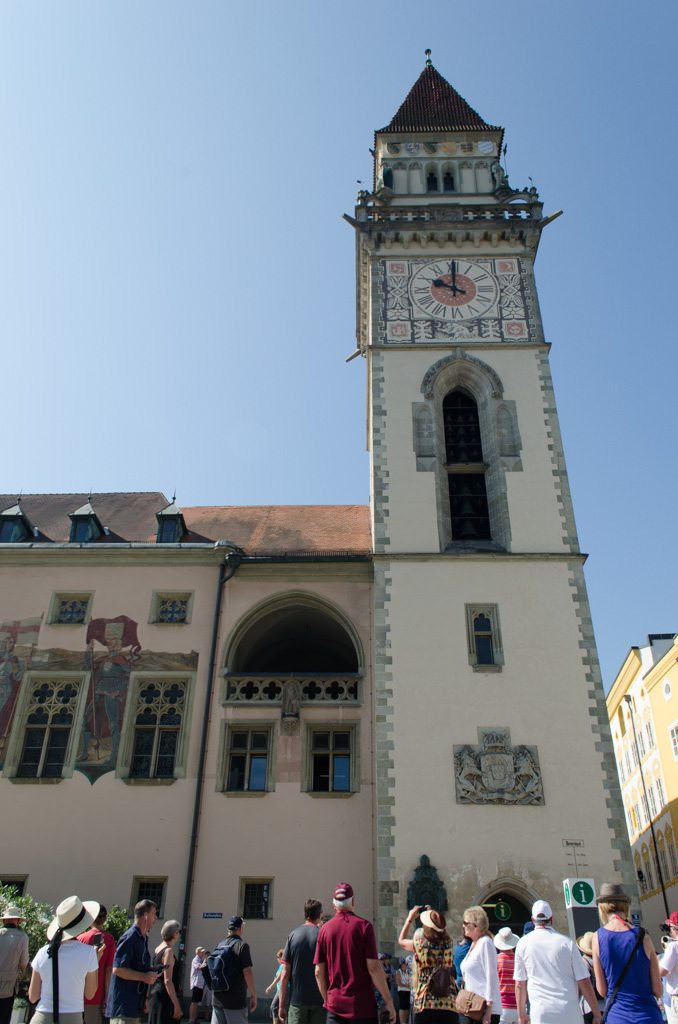 Passau's Rathaus, or City Hall. Photo © 2015 Aaron Saunders