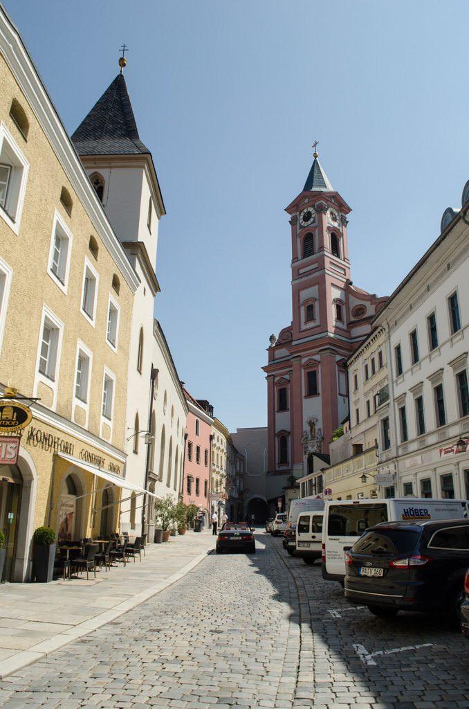 Looking back at Passau's St. Paul Church. Photo © 2015 Aaron Saunders
