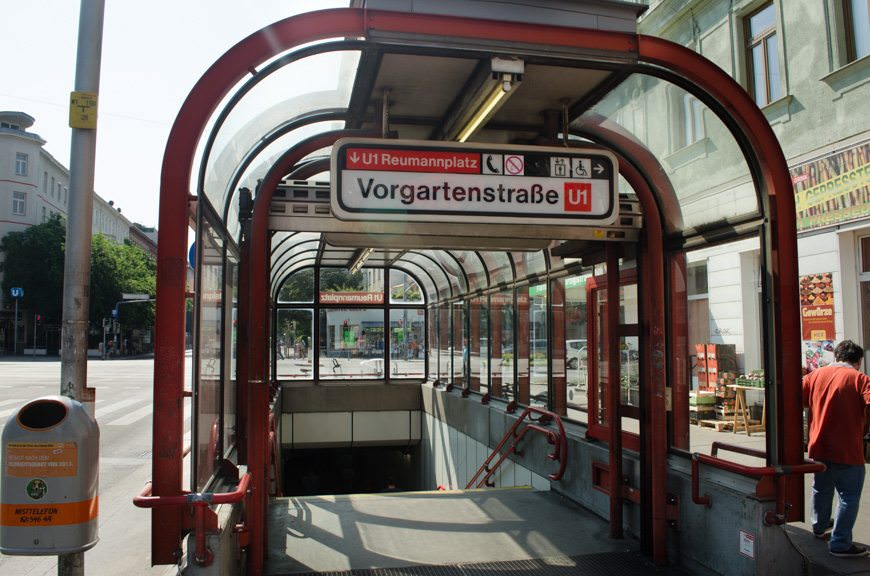 """...and find the station entrance marked """"Reumanplatz."""" Photo © 2015 Aaron Saunders"""
