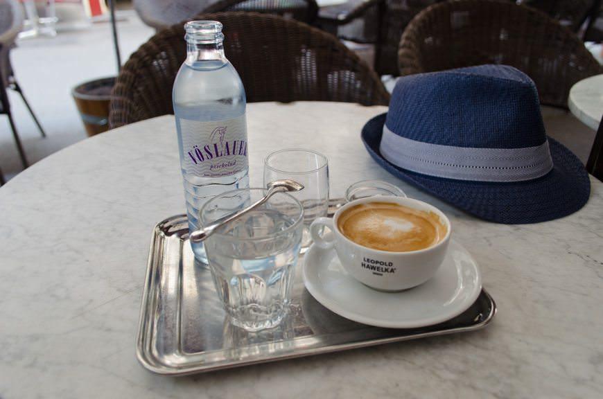Cafe Melange at Cafe Hawelka. Photo © 2015 Aaron Saunders