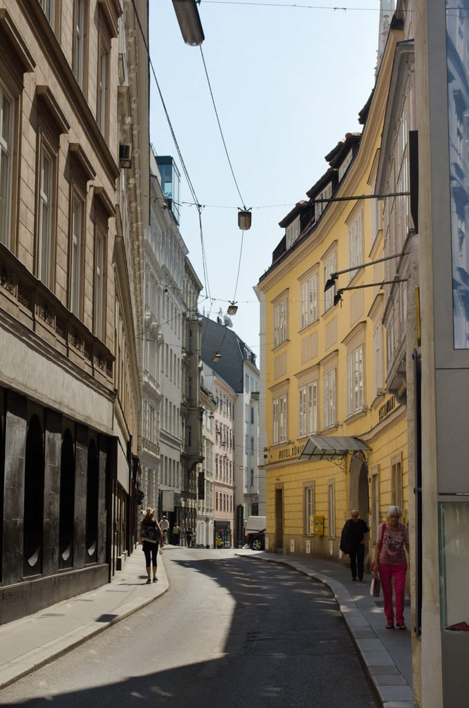 The Goulash Museum is just a few blocks down this street from St. Stephan's Cathedral. Photo © 2015 Aaron Saunders