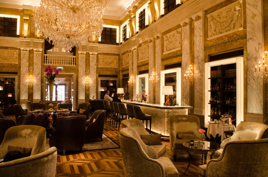 Inside the Hotel Imperial. I made a mental note of the property's romantic opulence. It's the kind of place I could hole up in for a month and just write... Photo © 2015 Aaron Saunders