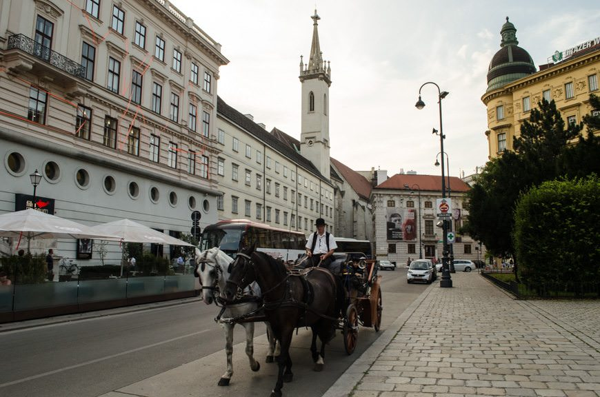 Strolling back to the Cafe Hawelka, via the Albertinaplatz...Photo © 2015 Aaron Saunders