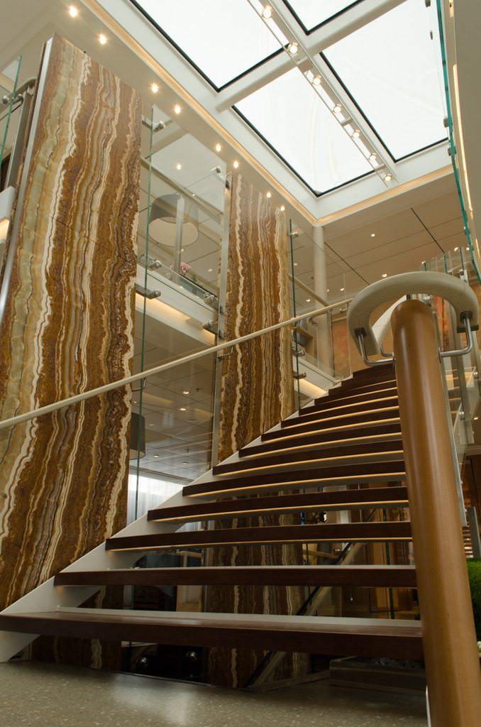 Main Staircase, Viking Vidar. Photo ©  2015 Aaron Saunders