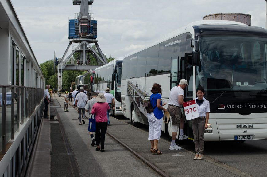 And They're Off! Guests board coaches for our afternoon of touring in nearby Bamberg, Germany. Photo © 2015 Aaron Saunders