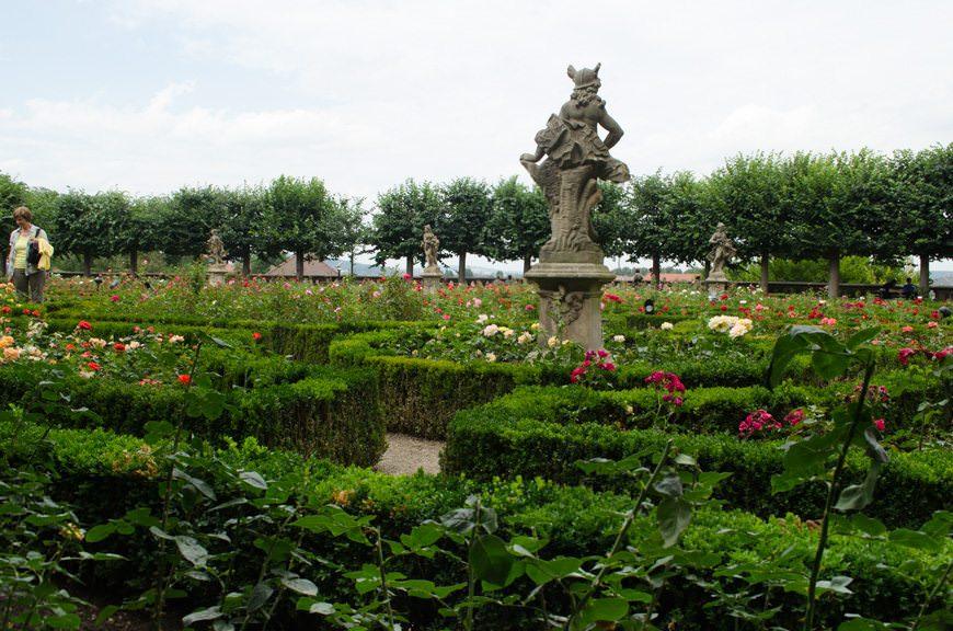 The elaborate rose garden...Photo ©  2015 Aaron Saunders