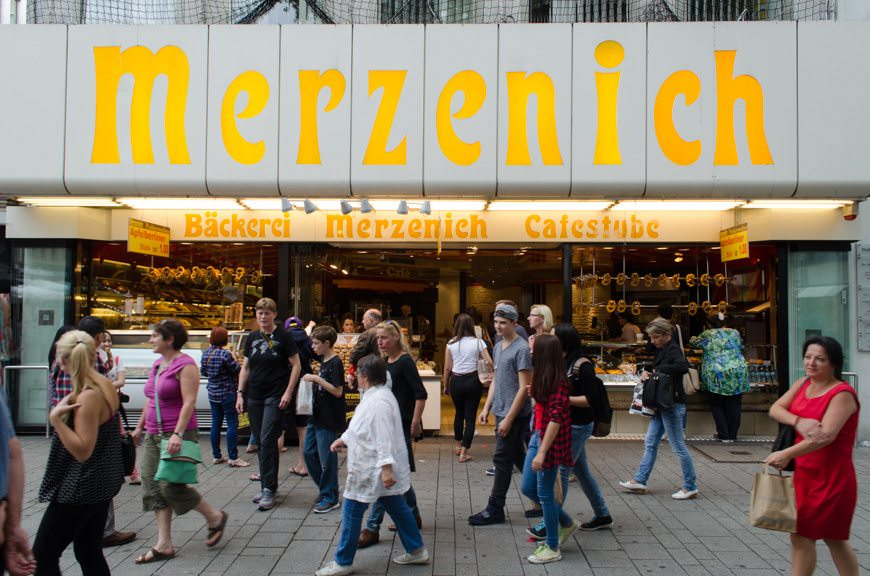 Merzenich offers all kinds of German delicacies. Pack your appetite! Photo © 2015 Aaron Saunders