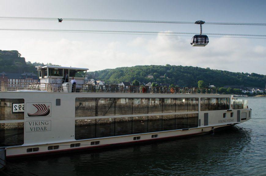 Viking River Cruises' Viking Vidar docked in Koblenz, Germany this morning. Photo © 2015 Aaron Saunders