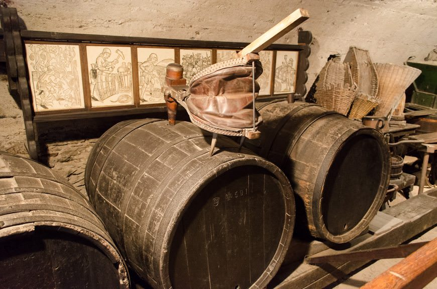 """A wine cellar was essential in a medieval fortress. With water undrinkable, most people were """"on the sauce"""" for most of the day. Photo © 2015 Aaron Saunders"""