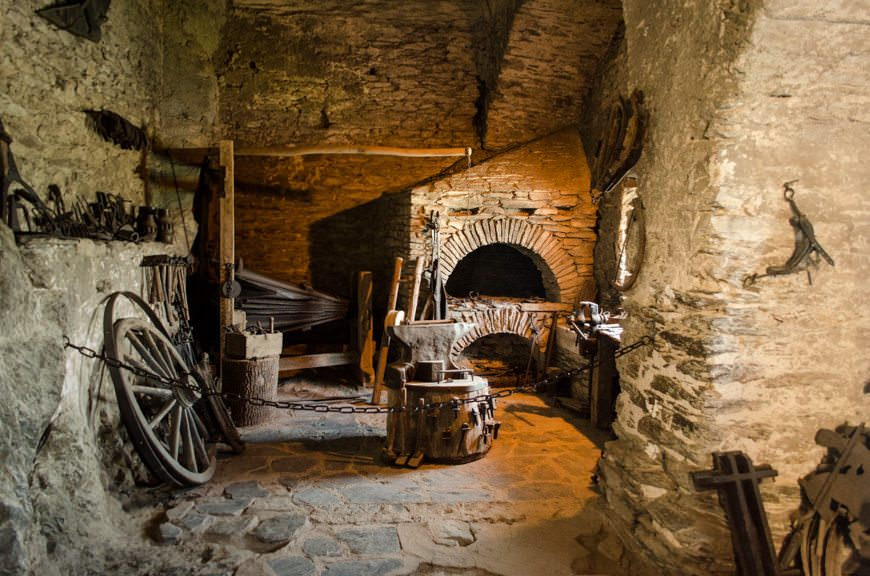 The castle blacksmith area is pretty much as you'd expect. Photo © 2015 Aaron Saunders