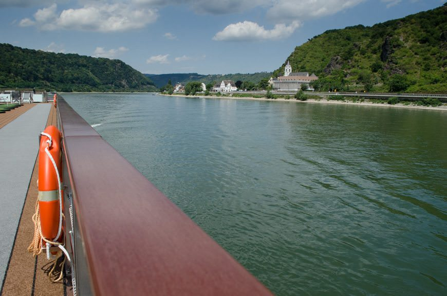 Sailing the gorgeous Rhine this afternoon as temperatures soared. Photo © 2015 Aaron Saunders