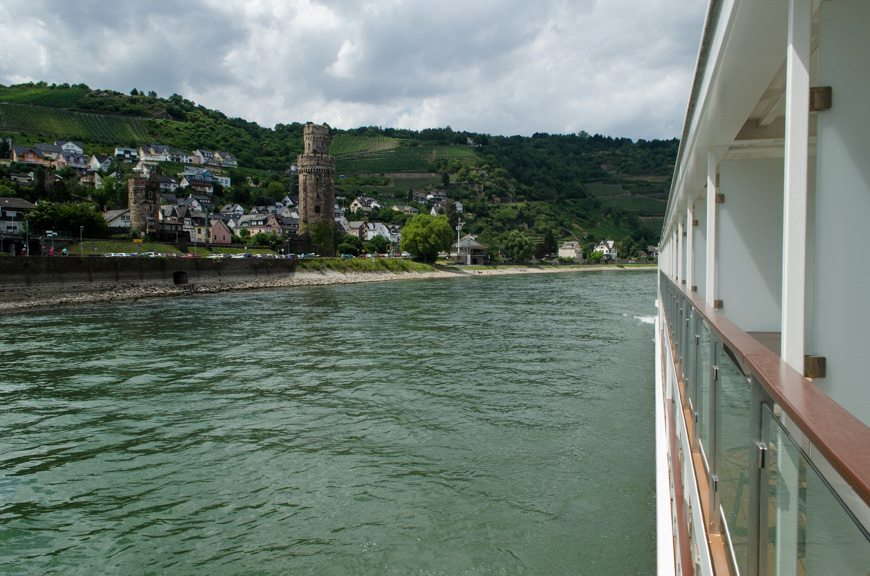 The view from my balcony this afternoon, as we scenic cruised our way down the Rhine. Photo © 2015 Aaron Saunders