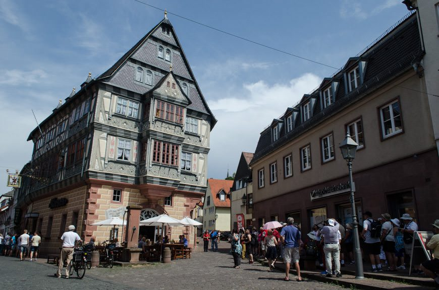 Step back in time in Miltenberg, Germany! The Hotel Zum Riesin - purportedly the oldest Inn in Germany - is front and center.