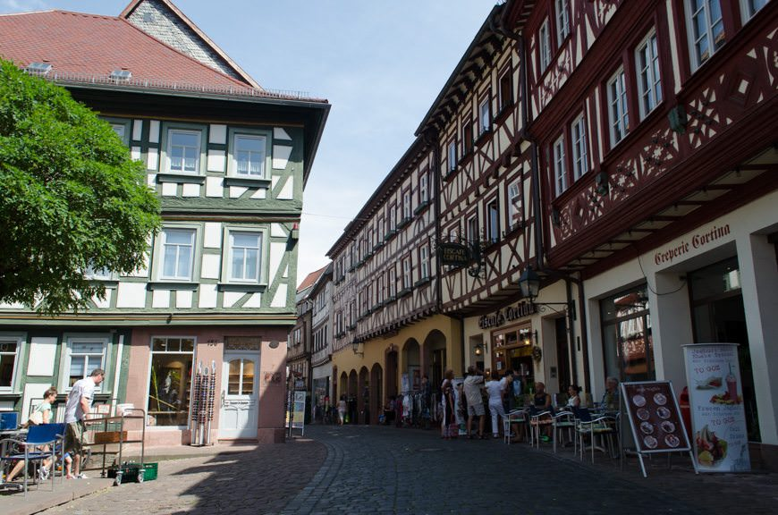 Miltenberg is a visual feast for the senses. It's like stepping back in time. Consider all those who have walked the streets before you. Photo © 2015 Aaron Saunders
