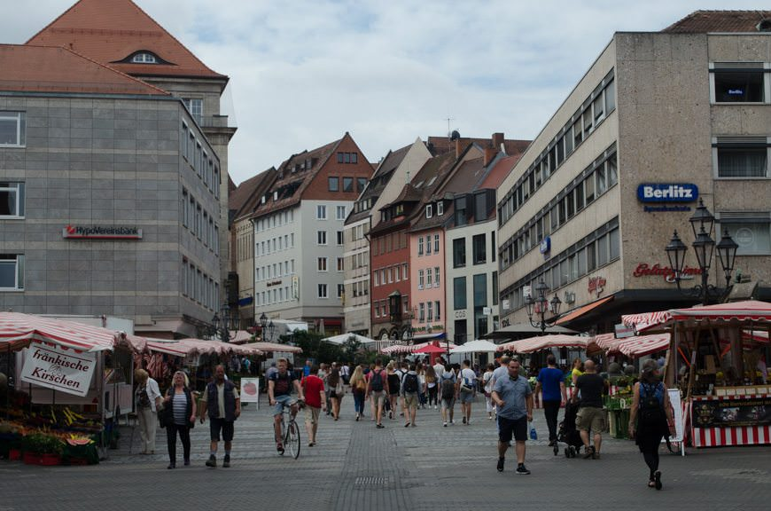 Koningstrasse: entrance to Nuremberg's modern-day pedestrian zone and shopping district. Photo © 2015 Aaron Saunders
