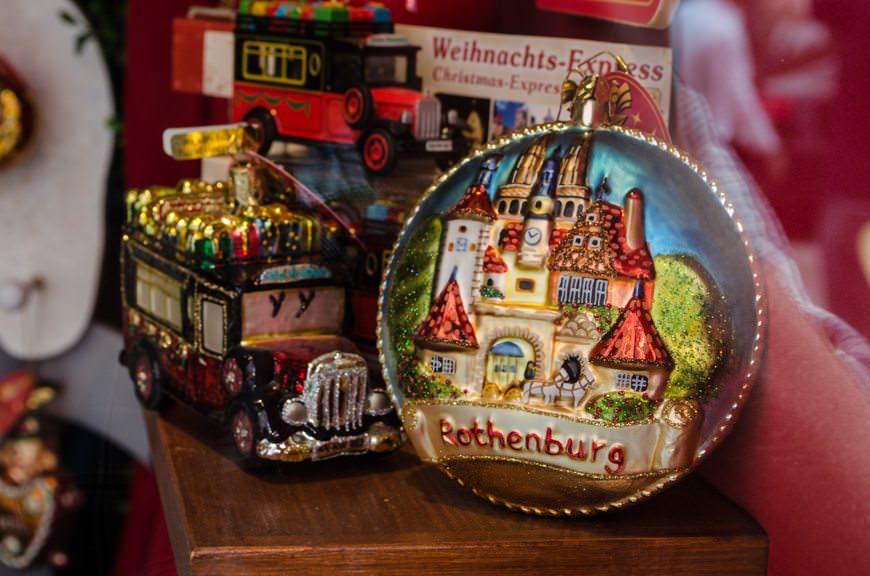Käthe Wohlfahrt designs and sells Christmas ornaments in Rothenburg year-round. Photo © 2015 Aaron Saunders