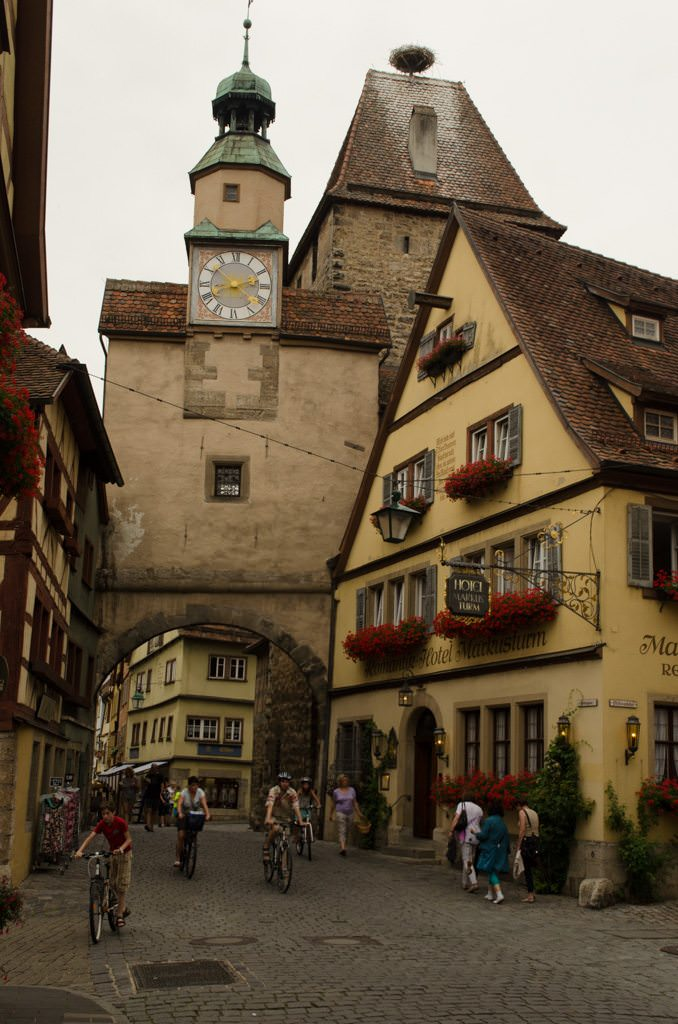 Storybook reality in Rothenburg. Shown here is the Markus Tower, or Markustum. Photo © 2015 Aaron Saunders