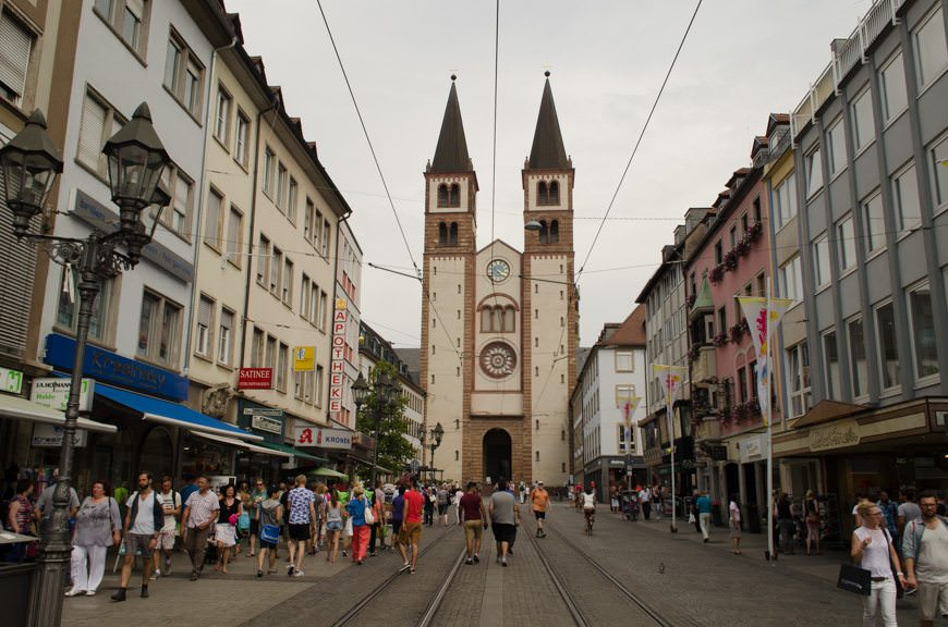 Looking back on the Domstrasse at Dom St. Kilian. Photo © 2015 Aaron Saunders