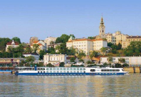 Uniworld's River Duchess alongside in Belgrade, Serbia. Photo courtesy of Uniworld River Cruises