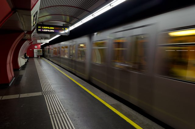 Looking to do your own thing? Public transit - like Vienna's U-Bahn, shown here - is a great way to get around. Photo ©  2014 Aaron Saunders