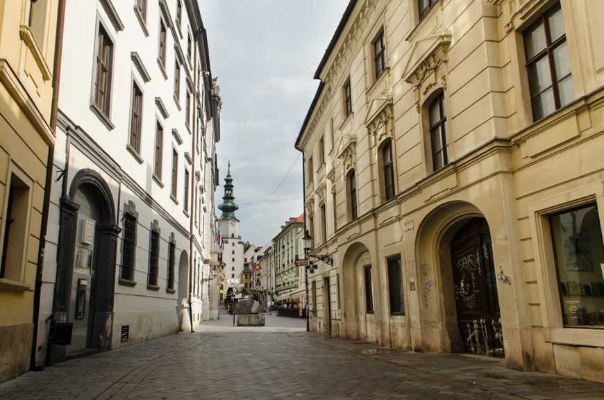 Bratislava is...quiet...in the morning. That changes at night, however. Photo © 2015 Aaron Saunders