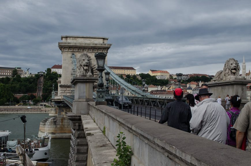Starting out across the Chain Bridge...Photo © 2015 Aaron Saunders