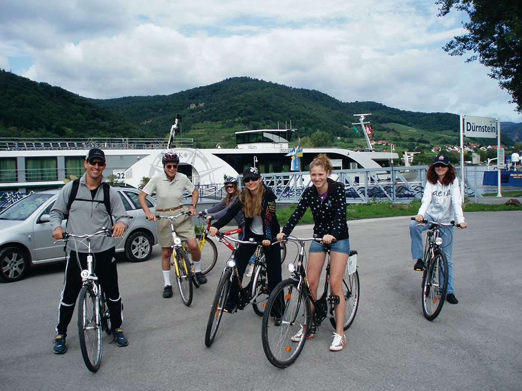 Go cycling together through Austria's Wachau Valley. Tauck provides complimentary bicycles for all. Photo courtesy of Tauck