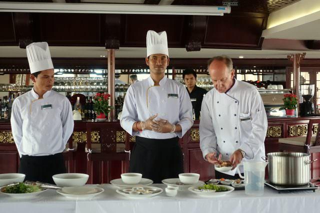 Cooking Demo on AmaDara - Copyright K.D. Leperi