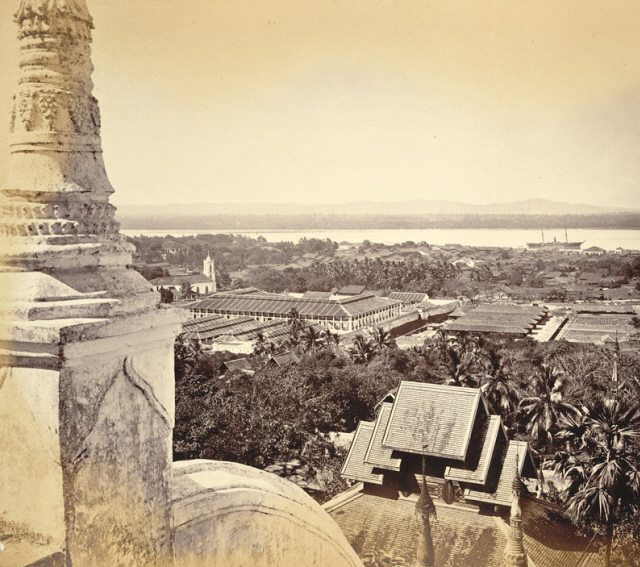 "Molumein, the setting of Rudyard Kipling's poem, ""Mandalay"", as seen at the end of the 1800's. Photo courtesy of Wikipedia / Creative Commons"