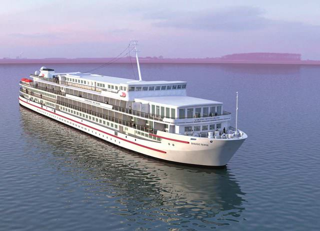 Viking Sineus (formerly Viking Lomonosov) underwent a major refurbishment recently that added a substantial number of balcony staterooms. Illustration courtesy of Viking River Cruises