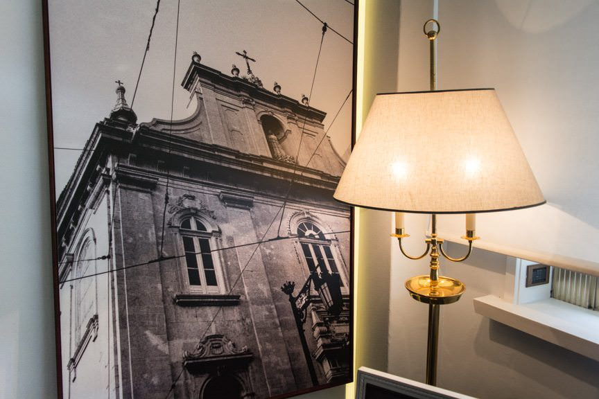 Love the black-and-white historic shots of Lisbon interspersed throughout the guest rooms and the hotel itself! Photo © 2015 Aaron Saunders