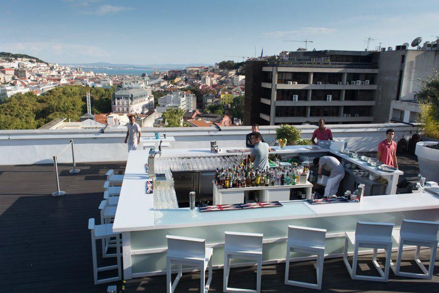 Sky Bar Skyline. Lisbon's panoramic vistas don't fail to impress. Photo © 2015 Aaron Saunders