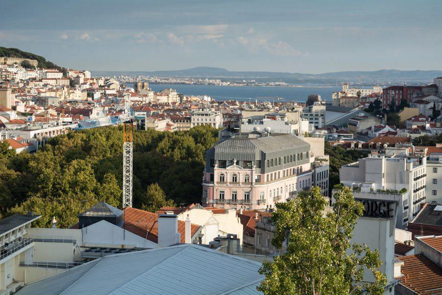 Hello, Lisbon! As seen from the Sky Bar at the Hotel Tivoli Lisboa. Photo © 2015 Aaron Saunders