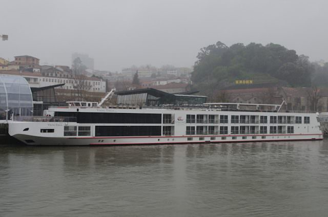 Viking Torgil docked in Gaia, across the Douro from Porto, Portugal. Photo © 2014 Aaron Saunders