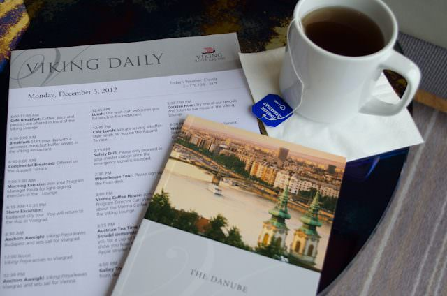 Viking provides an incredible pre-cruise documentation package. Shown here is one of the mini-guides they provide, which I am using on a Christmas Markets cruise along the Danube. Photo © 2012 Aaron Saunders