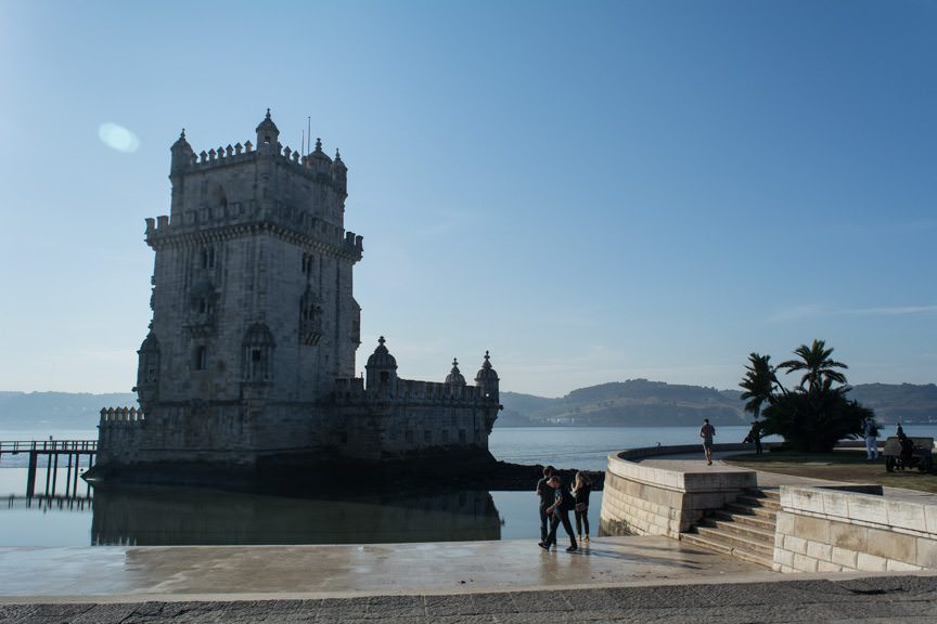 With temperatures rising, our next stop was the fantastic Belem Tower. Photo © 2015 Aaron Saunders