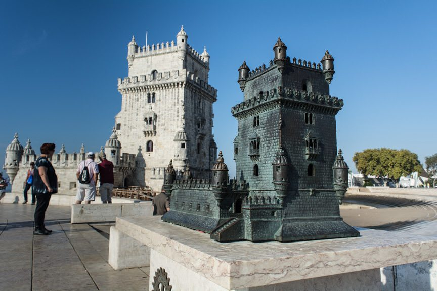 Belem Tower, with scale model in the foreground. Photo © 2015 Aaron Saunders