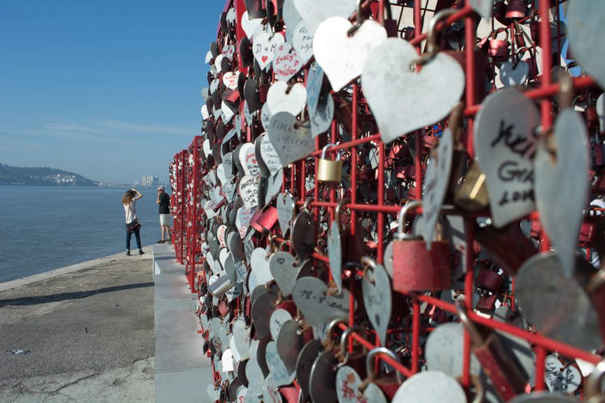 The Love Lock Craze continues here in Lisbon! Photo © 2015 Aaron Saunders